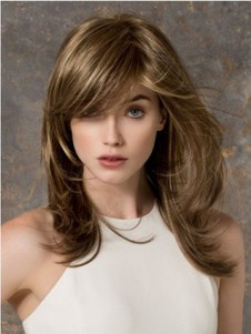 Chic Cheap Long Wavy Blonde Monofilament Wig