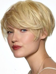 Straight Human Hair Pleasant Capless Wig