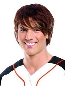 Handsome Human Hair Lace Front Mens Wigs