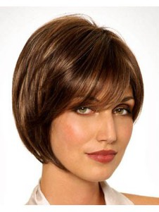 Monofilament Elegant Synthetic Straight Bob Wig
