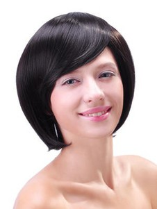 Length Layered Pretty Chin Synthetic Bob Wig
