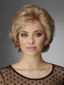 Fashionable Wavy Lace Front Short Human Hair Wig