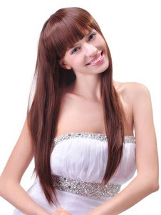 Remy Human Hair Sweet Straight Long Wig