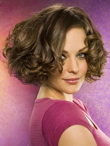 Lace Front Pretty Wavy Short Human Hair Wig