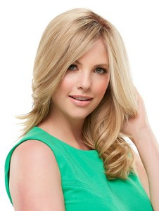 Lace Front Blonde Pretty Wavy Human Hair Wig