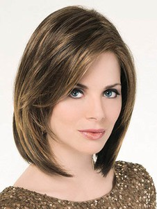 Wonderful Straight Human Hair Lace Front Bob Wig