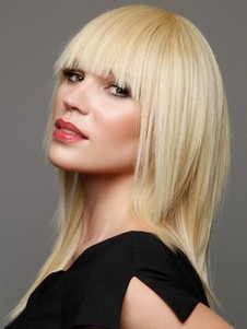 Layers Beautiful And Full Blunt Bang Synthetic Wig