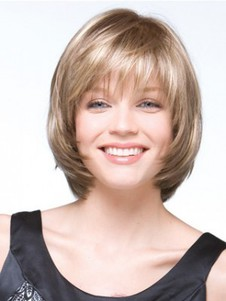 A Variety Of Multi-tonal Shades Bob Style Gray Wig