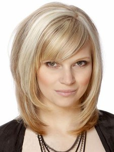 Straight Silky Capless Attractive Remy Human Hair Wig