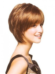 Short Bob Style Wig With a Graceful Fringe
