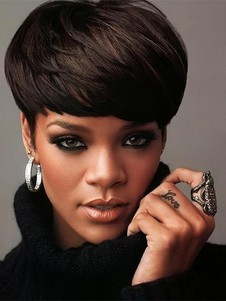 Rihanna Haircut Straight Beautiful Celebrity Wig