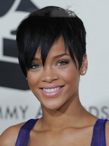 Rihanna Hairstyle Short Lace Front Straight Celebrity Wig