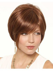 Synthetic Monofilament Pleasant Bob Wig