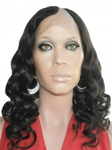 Remy Human Hair Spiral Curls U Part Wig