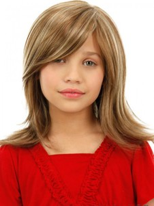 Chic Brown Capless Medium Kids Wig