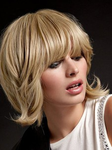 Medium Graceful Length Human Hair Capless Wig