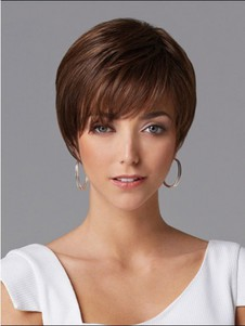 Short Straight Fashionable Human Hair Wig