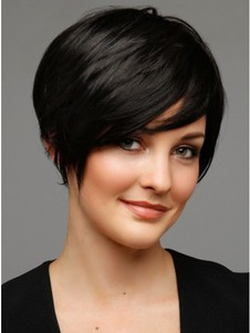 Black Short Human Hair Wig For Woman