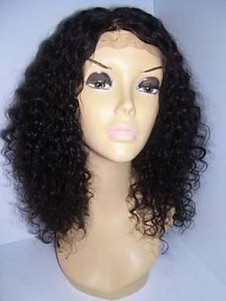 Curly Lace Front Human Hair Wig For Woman