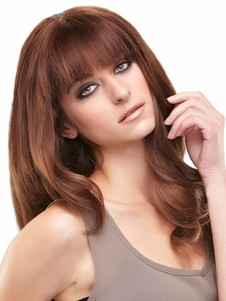 Cute Lace Front Wavy Long Remy Human Hiar Wig