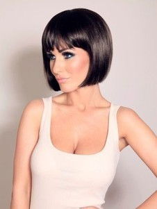 Straight Short Lace Gorgeous Front With Mono Wig For Woman