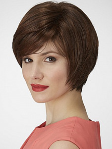 Bob Style Short Comfortable Straight Full Lace Synthetic Wig