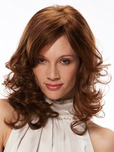 Monofilament Wavy Medium Admirable Remy Human Hair Wig