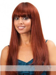 Length Straight Long Synthetic Capless Wig