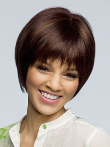 Straight Bob Style Capless Short Synthetic Wig