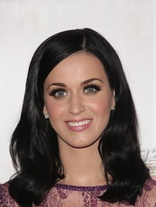 Gorgeous Katy Perry Human Hair Full Lace Straight Celebrity Wig