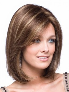 Straight Bob Style Length Shoulder Lace Front Wig