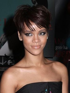 Rihanna Sporty Extra Synthetic Short Celebrity Wig