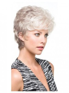 Carefree Synthetic Side Parting Gray Wig