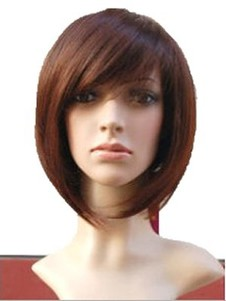 Straight Cute Bob Full Lace Wig For Woman
