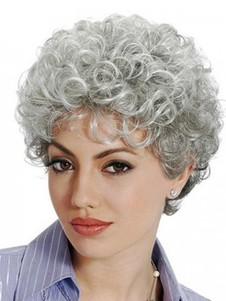 Curly Sophisticated Stylish Gray Wig