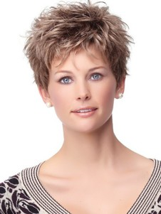 Short Capless Romantic Synthetic Wig