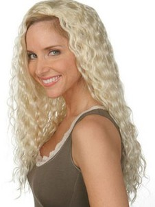 Capless Long Synthetic Wavy 3/4 Wig