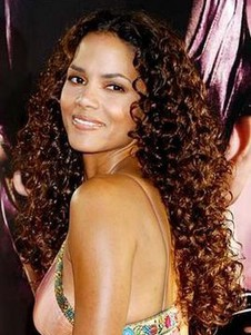 Halle Berry Curly Remy Hair Celebrity Wig