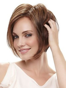 Synthetic Layers Angled Bob Style Wig