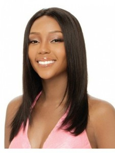 Capless Straight Modern Human Hair Long African American Wig