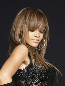 Hairstyle Rihanna's Long Human Hair Comfortable Celebrity Wig