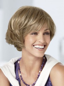 Top Gorgerous Style Bob Style Hand-tied Synthetic Wig