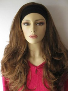Wavy Red Layelong Synthetic 3/4 Wigs