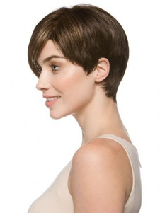 Straight Monofilament Short Blonde Chic Boycuts Wig