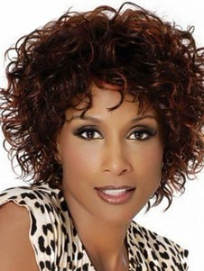 Synthetic Curly Length Medium Capless Wig
