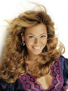 Long Beyonce Hairstyle Blonde Top Quality Lace Wavy Celebrity Wig