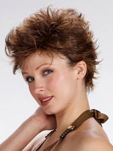 Short Wavy Modern Full Lace Wig For Woman
