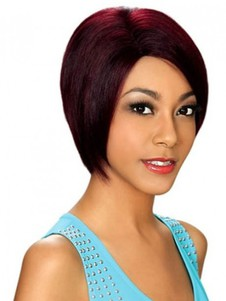 Popular Straight Red Capless Synthetic Wig