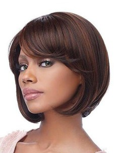 Comfortable Medium Capless Human Hair Straight Wig