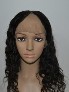 Wavy Remy Hair Long U Part Wig